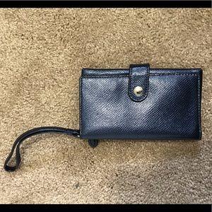 Navy Coach Wristlet Wallet